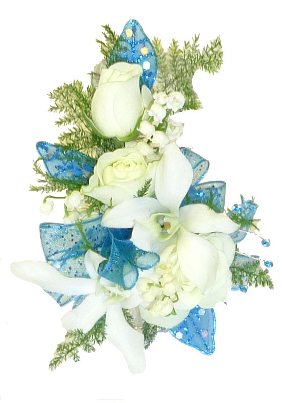 White Rose And Orchid Corsage White Rose And Orchid Corsage