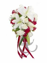 Classic Red And White Bridal Bouquet