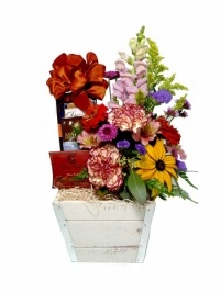 Flowers and Chocolate Gift Basket